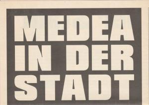 Volksbühne am Rosa-Luxemburg-Platz, Carl Hegemann, Stefanie Carp, Valeriy Mamontov Programmheft Andrij Zholdak MEDEA IN DER STADT Premiere 16. November 2005
