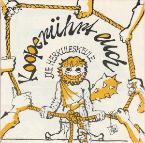 Die Herkuleskeule Das Kabarett der Stadt Dresden DDR, Wolfgang Schaller, Wolfgang Zobel Programmheft Die Herkuleskeule KOOPERÜHRT EUCH 6-fach signiert