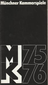 Münchner Kammerspiele, Hans-Reinhard Müller, Wolfgang Zimmermann Programmheft Der Arzt am Scheideweg von George Bernard Shaw Premiere 22. November 1975 Spielzeit 1975 / 76 Heft 3