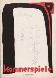 Münchner Kammerspiele, Hans Schweikart, Werner Bergold, Hildegard Steinmetz Programmheft Paul Burkhard DAS FEUERWERK Spielzeit 1952 / 53 Heft 8