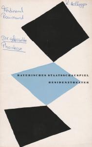 Bayerisches Staatsschauspiel, Kurt Horwitz, Walter Haug Programmheft Ferdinand Raimund DIE GEFESSELTE PHANTASIE 30.Dezember 1954 Residenztheater Spielzeit 1954 / 55 Heft 4