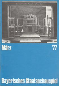 Bayerisches Staatsschauspiel, Kurt Meisel, Jörg-Dieter Haas, Claus Seitz, Gül Oswatitsch, Jean-Marie Bottequin Programmheft Peter Shaffer EQUUS 4. März 1977 Cuvillies-Theater Heft März 1977