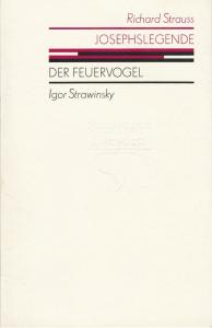 Staatsoper Dresden, Gerd Schönfelder, Isolde Matkey, Ekkehard Walter Programmheft Igor Strawinsky DER FEUERVOGEL Johann Strauss JOSEPHSLEGENDE Premiere 7. Februar 1987 Semperoper Spielzeit 1986 / 87