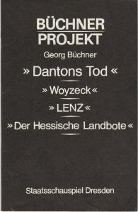 Staatstheater Dresden, Karla Kochta, Doris Berg Programmheft Georg Büchner BÜCHNER PROJEKT Premiere 3. Juli 1982 Staatsschauspiel Dresden