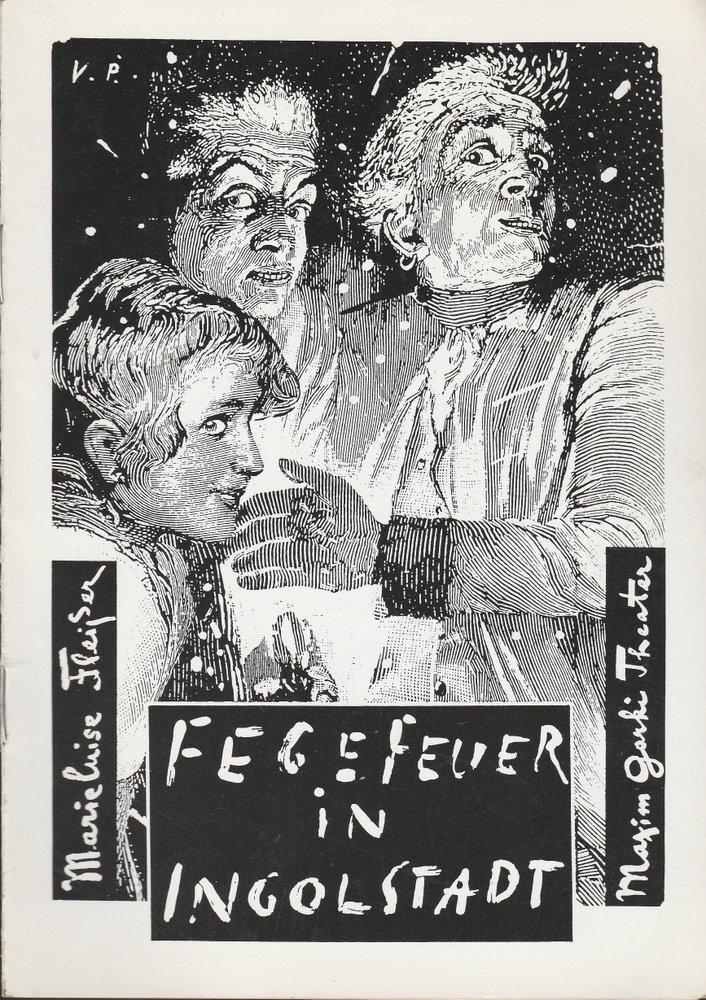 Maxim Gorki Theater, Bernd Wilms, Helmut Brade Programmheft Marieluise Fleißer FEGEFEUER IN INGOLSTADT Premiere 19.Mai 1995 Spielzeit 1994 / 95 0