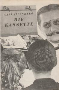 Deutsches Theater / Kammerspiele, Wolfgang Heinz, Kurt Seeger, John Heartfield, Jo Fritsche Programmheft Carl Sternheim DIE KASSETTE Premiere 16. Mai 1968 Spielzeit 1967 / 68