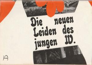 Deutsches Theater / Kammerspiele Berlin, Staatstheater der DDR, Gerhard Wolfram, Ilse Galfert, Christoph Ehbeths Programmheft Ulrich Plenzdorf DIE NEUEN LEIDEN DES JUNGEN W. Premiere 17. Dezember 1972