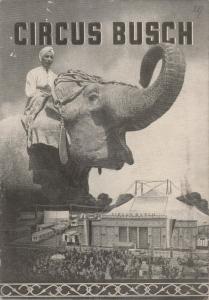 Circus Busch, Paul Schäfer E. Baumann Programmheft Circus Busch 1954