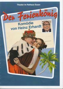 Tournee Theater Thespiskarren, Theater im Rathaus Essen Programmheft Heinz Erhard DER FERIENKÖNIG Premiere 24. Oktober 2010 Sachsenwald-Forum Reinbek Spielzeit 2010 / 2011