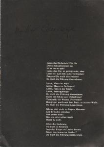 Stadttheater Zittau, Hubertus Methe Programmheft Bertolt Brecht MUTTER COURAGE UND IHRE KINDER Spielzeit 1957 / 58