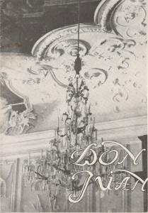 Stadttheater Zittau, Hubertus Methe Programmheft Wolfgang Amadeus Mozart DON JUAN Spielzeit 1957 / 58
