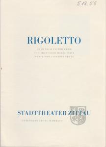 Stadttheater Zittau, Georg Wambach, Hubertus Methe Programmheft Giuseppe Verdi RIGOLETTO Spielzeit 1956 / 57 Heft 3