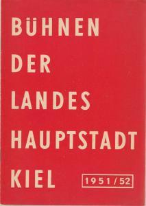 Bühnen der Landeshauptstadt Kiel, Gerhard Reuter, Max Fritzsche Programmheft Friedrich Schiller MARIA STUART Spielzeit 1951 / 52