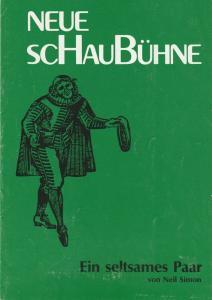 Neue Schaubühne, Hellmuth Duna, Elfriede Gampper Programmheft Neil Simon EIN SELTSAMES PAAR Spielzeit 1988 / 89 7-fach signiert