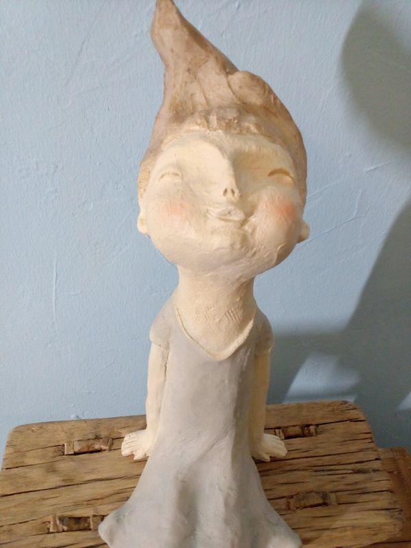 Kantenhocker Sabo Design 45cm groß aus Polyresin hergestellt und Handbemalt