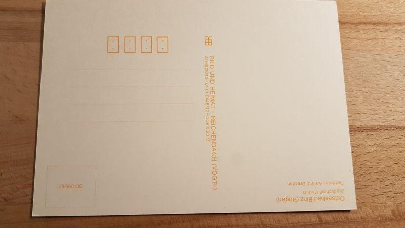 Postkarte Ostseebad Binz Jagdschloß Granitz nicht gelaufen 1