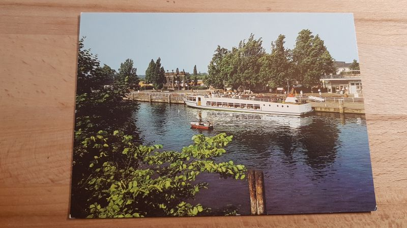 DDR Postkarte Potsdam Anlegestelle der weißen Flotte 0