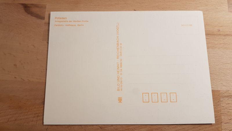 DDR Postkarte Potsdam Anlegestelle der weißen Flotte 1