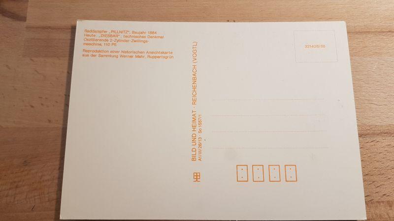 DDR Postkarte Loschwitz Blasewitzer Brücke Raddampfer Pillnitz 1