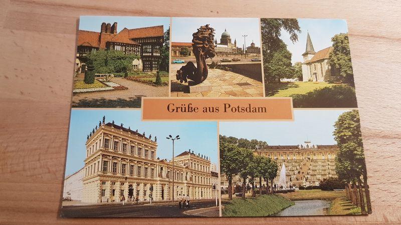 DDR Postkarte Grüße aus Potsdam nicht gelaufen