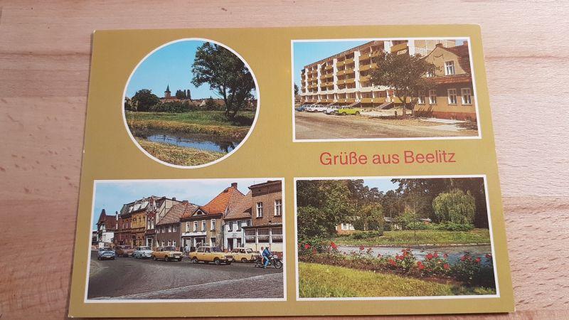 DDR Postkarte Grüße aus Beelitz nicht gelaufen 0