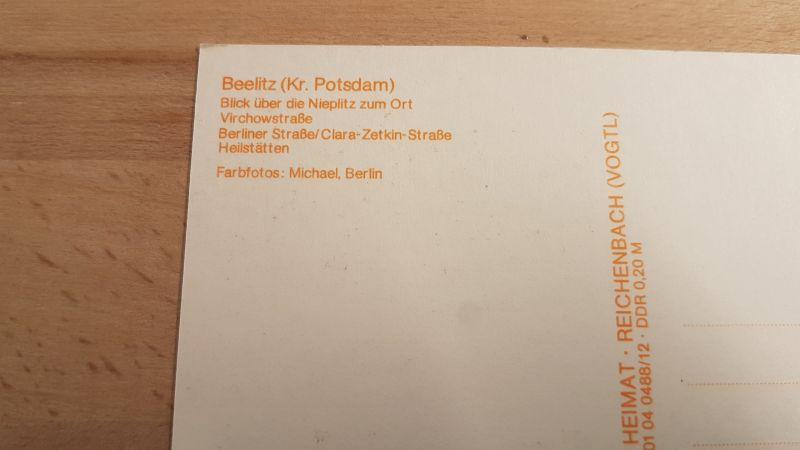 DDR Postkarte Grüße aus Beelitz nicht gelaufen 1