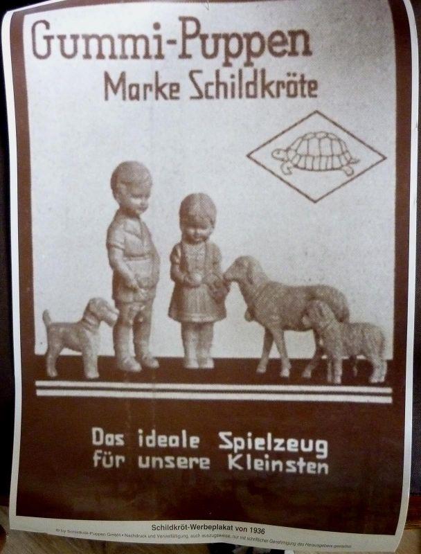 seltenes Werbeplakat von Schildkröt, Nachdruck um 1980