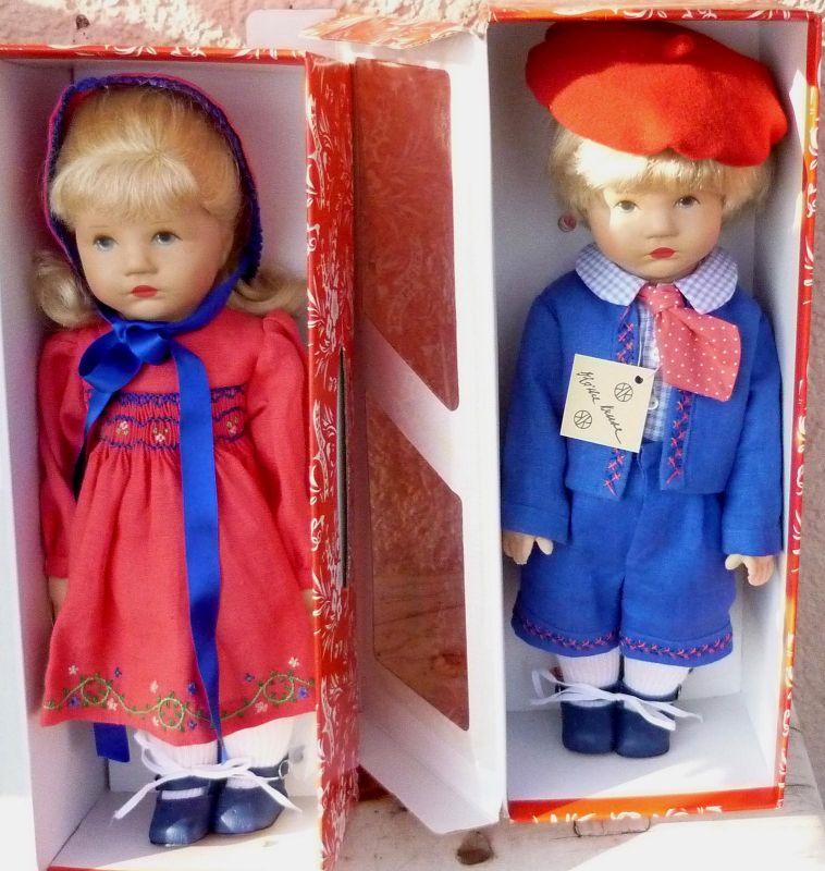 Puppen Käthe Kruse: Erika und Rolf, Wiederauflage Du Mein 1926-31, limitiert 600 St. 1993