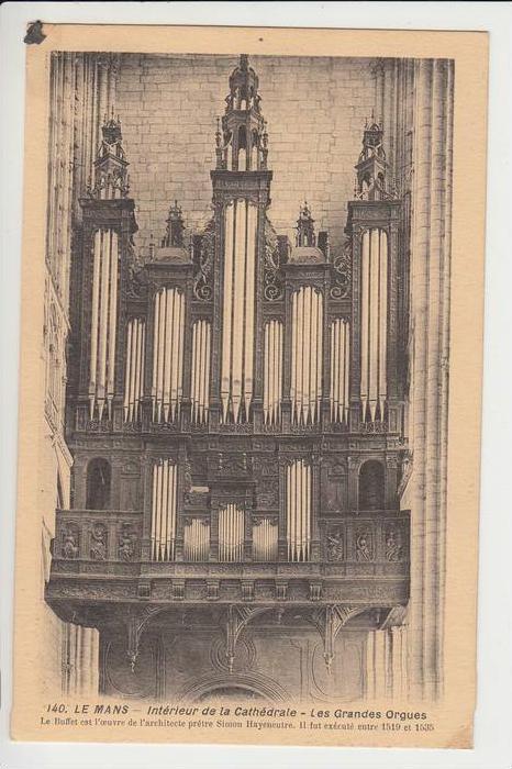 MUSIK - Kirchenorgel - Orgue de l´Eglise - Le Mans, Cathedrale, Les Grandes Orgues