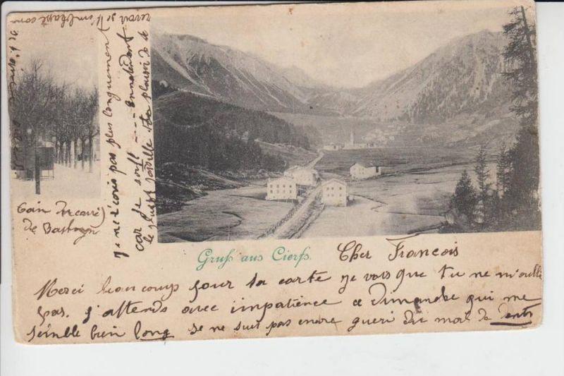 CH 7532 CIERFS - TSCHIERV, Gruß aus..., 1900