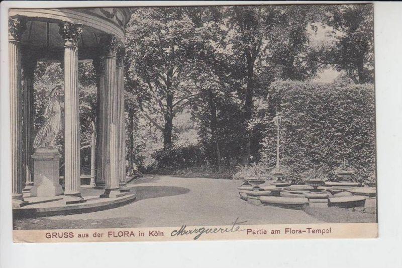 5000 KÖLN, FLORA - Parie am Flora-Tempel, kl.Knick