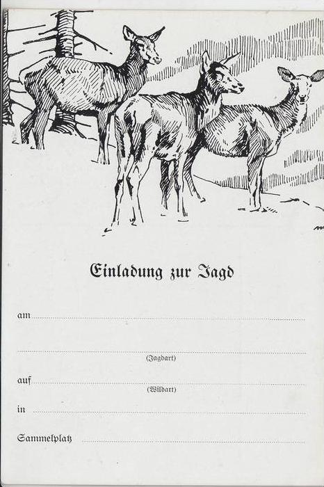 JAGD - HUNTING - JACHT - CHASSE - CACCIA - CAZA - LOWIECTWO - Jagdeinladung