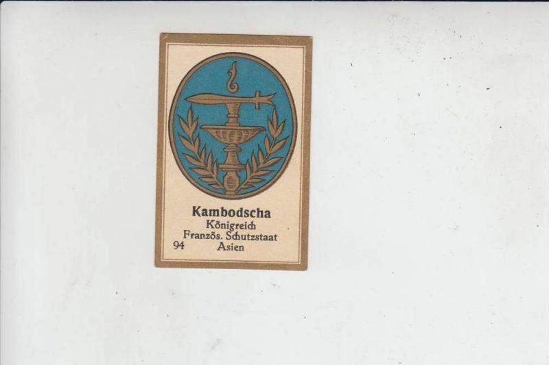 K - KAMBODSCHA, Vignette Staatswappen - Abdulla - Berlin