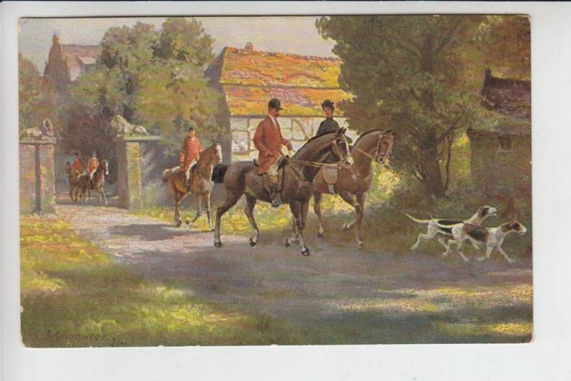 JAGD - HUNTING - JACHT - CHASSE - CACCIA - CAZA - LOWIECTWO - Künstler - Karte