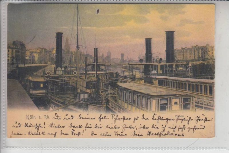 5000 KÖLN, Hafen, 1904, Fahrgastschiffe der Köln-Düsseldorfer