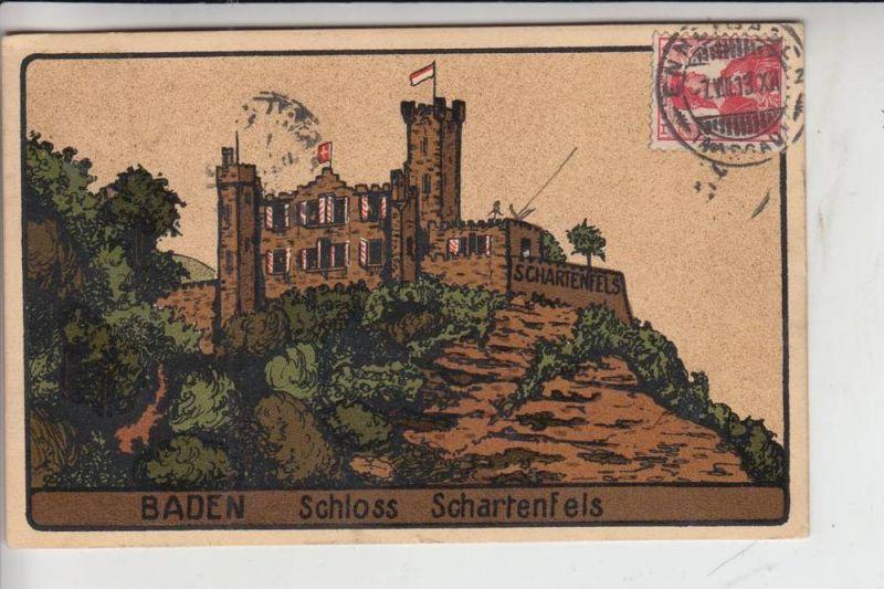 CH 5400 BADEN - WETTINGEN, Schloss Schartenfels, Steindruck 1913