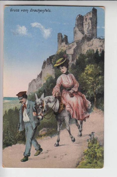5330 KÖNIGSWINTER, Gruss vom Drachenfels, Eselsritt