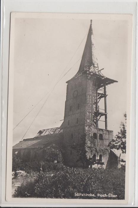 4240 EMMERICH - ELTEN, Stiftskirche Hoch-Elten, Schäden 2.Weltkrieg