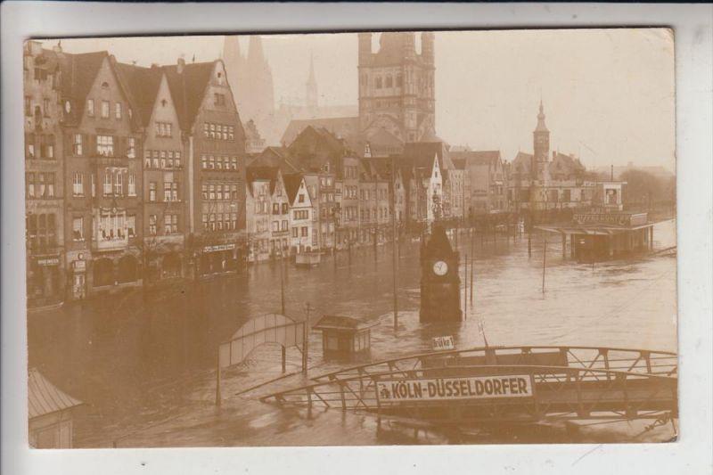 5000 KÖLN, EREIGNIS, Hochwasser 1930, Rheinufer am Köln-Düsseldorfer-Anlager