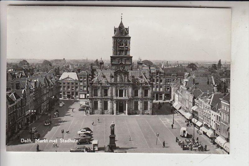 NL - ZUID-HOLLAND - DELFT, Markt & Stadhuis
