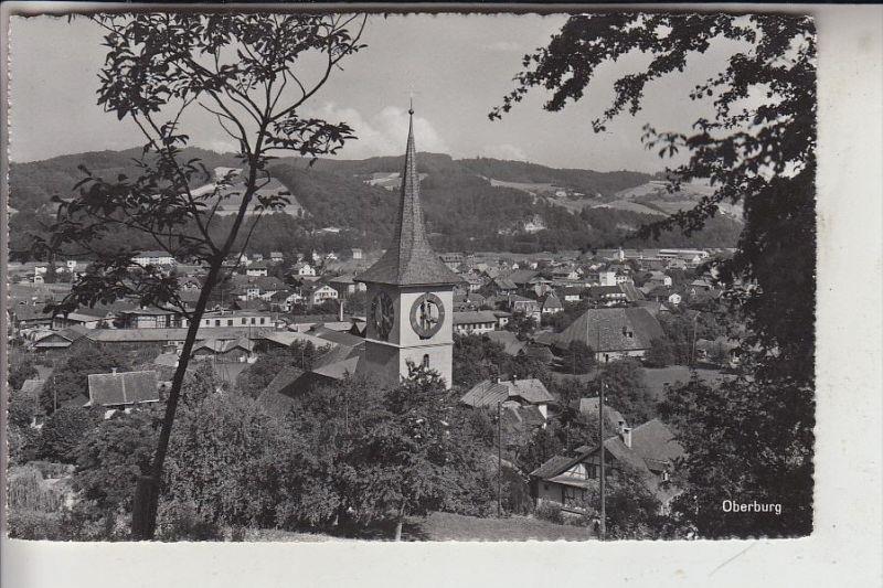 CH 3414 OBERBURG, Ortsansicht mit Kirche