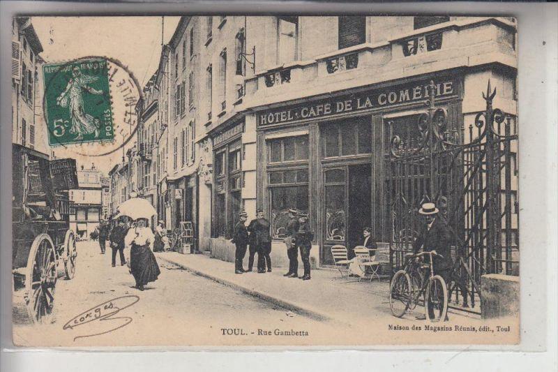 F 54200 TOUL, Rue Gambetta, cpa animee