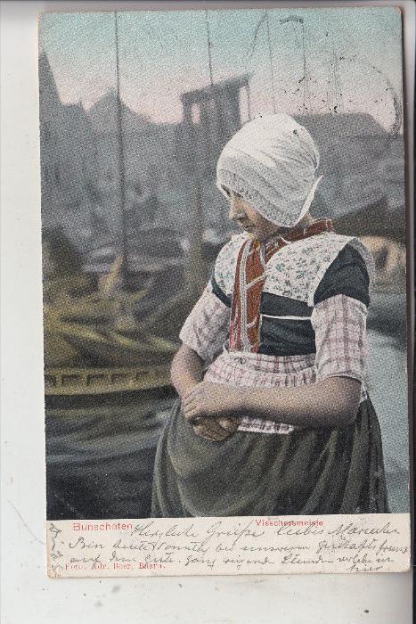NL - UTRECHT - BUNSCHOTEN, Vissschersmeisje, 1903, nach Riga gelaufen