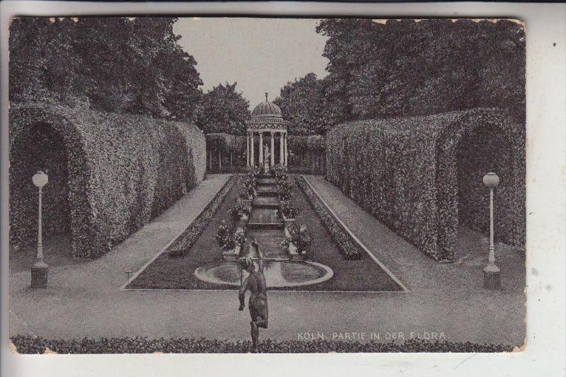 5000 KÖLN, FLORA, Partie in der Flora, 1909, Knick