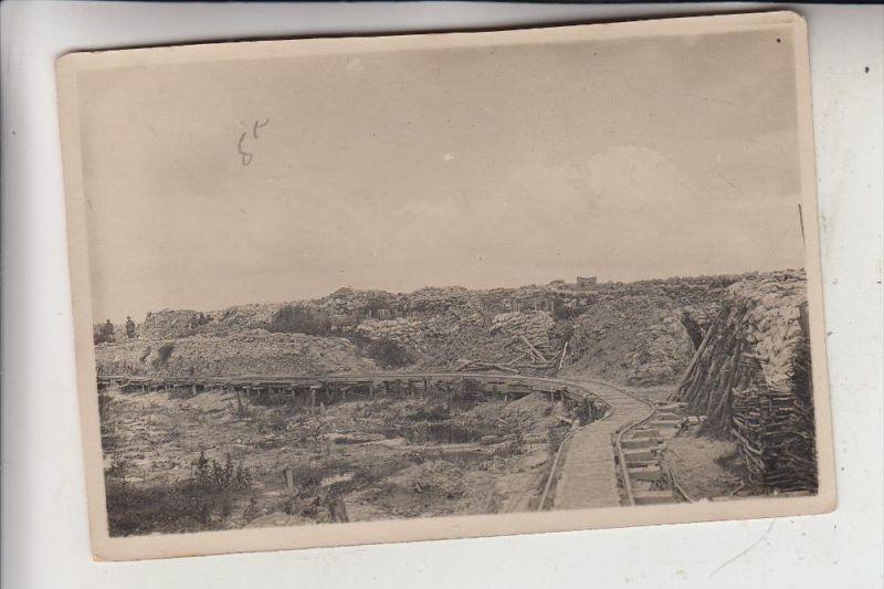 B 8600 DIKSMUIDE, 1.Weltkrieg, Stellung, Militärbahn/Kleinbahn, Photo