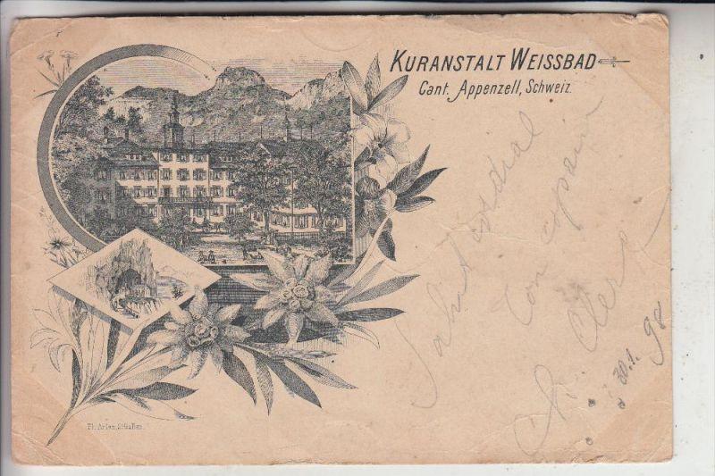 CH 9057 WEISSBAD, Kuranstalt Weissbad, frühe Karte