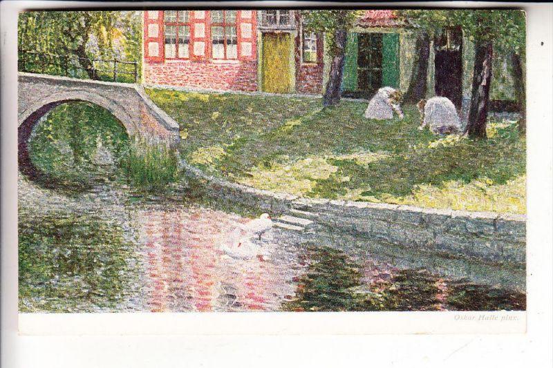 B 8000 BRUGGE, Namiddag het onde vrouwen gesticht in Brugge, Vlaamsche Kunst, Oskar Halle