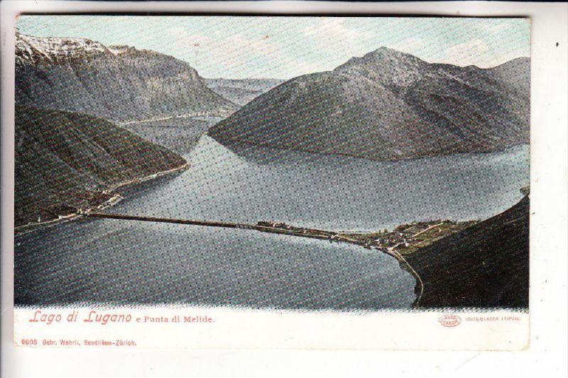CH 6815 MELIDE, Punta di Melide, Luganer See, ca. 1905, Nadelloch