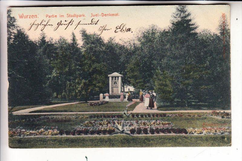 0-7250 WURZEN, Stadtpark, Juel-Denkmal, 1908 0