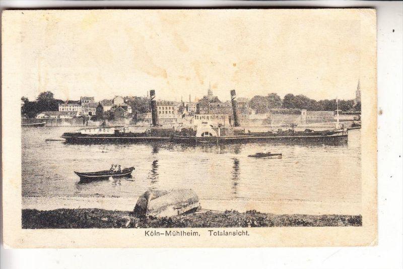 5000 Koln Mulheim Ortsansicht V Riehler Ufer Binnenschiff 1928
